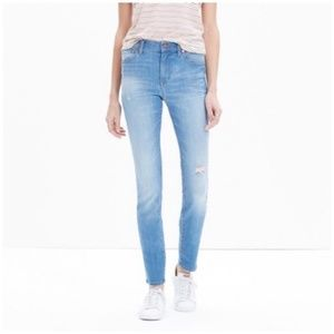 Madewell • high rise crop skinny skinny jeans
